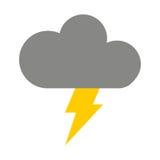 le nuage avec le rayon a isolé la conception d'icône Images stock