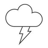 le nuage avec le rayon a isolé la conception d'icône Photos libres de droits