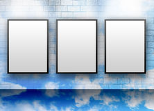 le nuage blanc affiche le blanc de trois murs illustration de vecteur