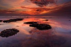 Le nuage brûlant Image stock