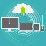 Le nuage calculant est une technique moderne Stockage d'information sur une ressource de nuage Storage technology de nuage Images libres de droits