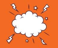 Le nuage comique simple de la parole bouillonne avec l'étoile et l'orage Image libre de droits