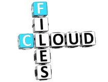 le nuage 3D classe des mots croisé Image libre de droits