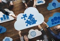 Le nuage exprime le concept de graphique de gestion image stock