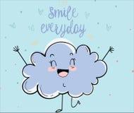 Le nuage heureux Photo libre de droits