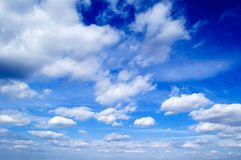 Le nubi. Fotografie Stock