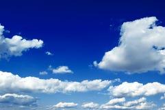 Le nubi di bianco Fotografia Stock Libera da Diritti