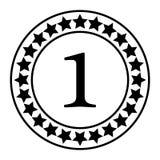 Le numéro un, le meilleur symbole de évaluation, illustration de vecteur illustration de vecteur