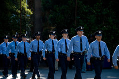 Le nuove reclute marciano - LAPD Fotografia Stock Libera da Diritti