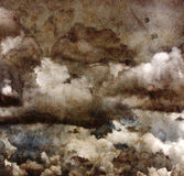 Le nuvole di lerciume sopra riciclano la carta. Fotografia Stock