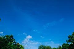 Le nuvole ed il cielo fotografia stock