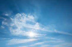 Le nuvole gradiscono un angelo Fotografia Stock