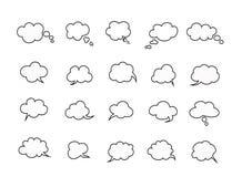 Le nuvole parlano le bolle Fotografia Stock Libera da Diritti