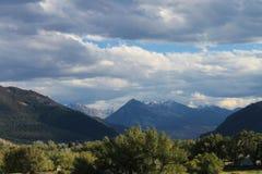 Le nuvole portano la neve in anticipo Fotografia Stock Libera da Diritti