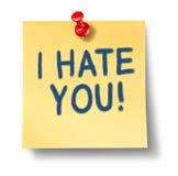Le odio Foto de archivo libre de regalías