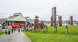 Le officine del gas stupefacenti parcheggiano 11 aprile 2017 a Seattle - SEATTLE/WASHINGTON - Fotografia Stock