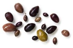 Le olive hanno isolato la vista superiore Fotografia Stock Libera da Diritti