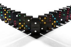 La geometria dell'ombra di domino Fotografia Stock
