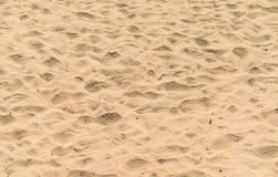 Onde del fondo della sabbia della spiaggia Fotografia Stock