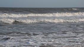 Le onde del mare vanno alla riva stock footage