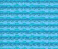 Le onde dell'acqua dell'oceano del mare dell'acqua ondeggiano la marea calma senza cuciture del modello blu royalty illustrazione gratis