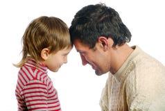 Le père et son fils Photographie stock