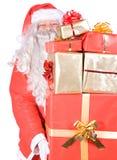 Le père noël avec des cadeaux Images stock