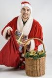 Le père noël avec des cadeaux Image libre de droits
