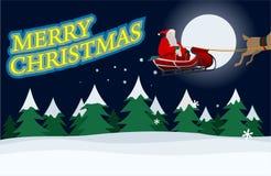 Le père noël avec le message de Noël Images libres de droits