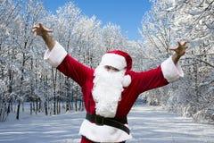 Le père noël dans la neige Photo stock