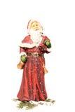 Le père noël dans la neige Image libre de droits