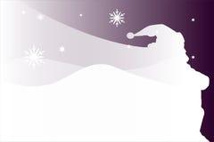 Le Père noël dans la neige Photos stock