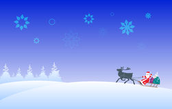 Le père noël et renne Image stock