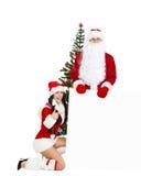 Le Père noël et Santa Giirl Images stock