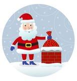 Le père noël le réveillon de Noël illustration de vecteur