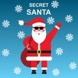 Le père noël secret Cadeaux secrets illustration libre de droits