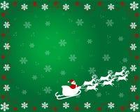 Le père noël sur la carte de Noël Photos stock