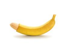 Le pénis aiment la banane Photographie stock