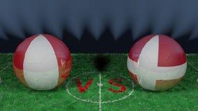 Le Pérou contre le Danemark Coupe du monde 2018 de la FIFA Image 3D originale Photographie stock libre de droits