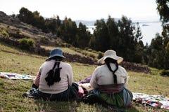 Le Pérou, le Lac Titicaca Photo libre de droits