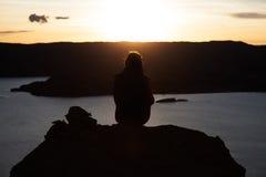 Le Pérou, le Lac Titicaca Photographie stock libre de droits
