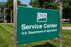 Le Pérou - vers août 20118 : Centre de service de l'USDA Le ministère de l'agriculture des USA est responsable des lois liées à c photo stock