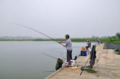 Le pêcheur à la ligne Photographie stock libre de droits