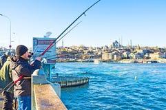 Le pêcheur chanceux Image stock
