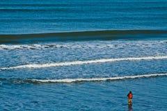 Le pêcheur seul Photographie stock libre de droits