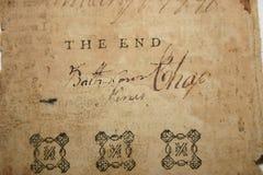 Le page final Photo libre de droits
