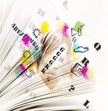 Le pagine con i simboli Fotografia Stock