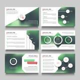 Le pagine del libretto della presentazione della società con le foto vaghe all'aperto astratte vector il modello Fotografia Stock