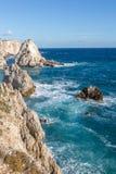 Le Pagliare :Tremiti海岛,亚得里亚海,意大利 免版税库存照片