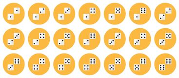 Le paia di bianco taglia l'insieme a cubetti piano dell'icona di vettore illustrazione di stock